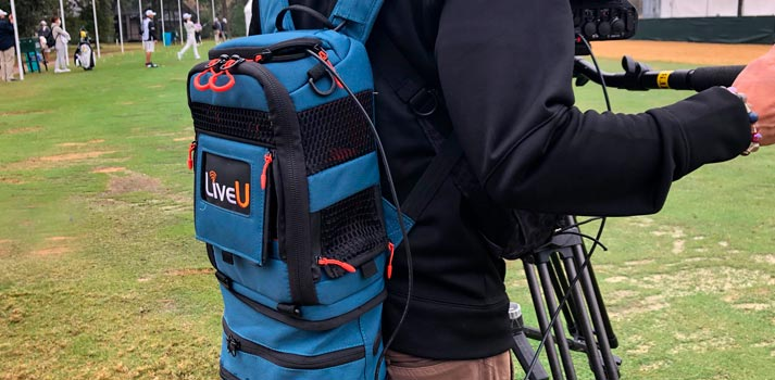 LiveU transmission backpack deployed by WOWOW