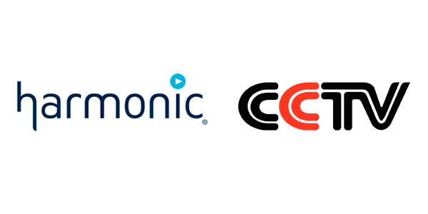 Logos of the Chinese Television CCTV and Harmonic