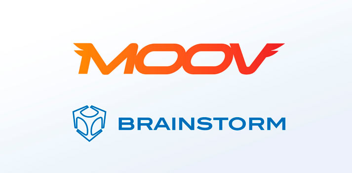 Logos of Brainstorm and Moov