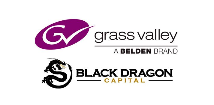 Logos of Grass Valley and Black Dragon