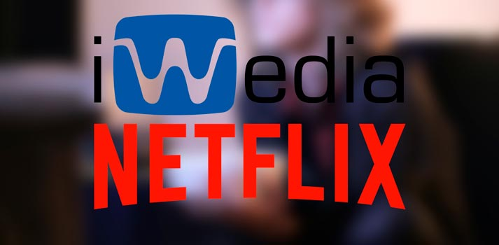 Logos of iWedia and Netflix