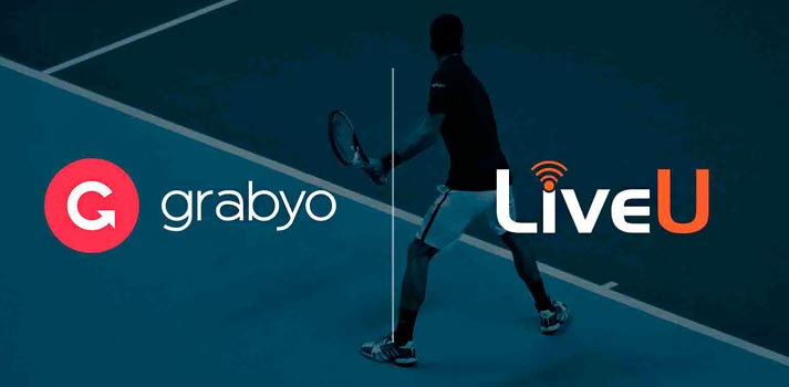 Logos of LiveU and Grabyo