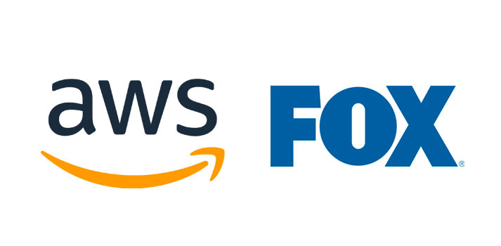 Logos of AWS and FOX