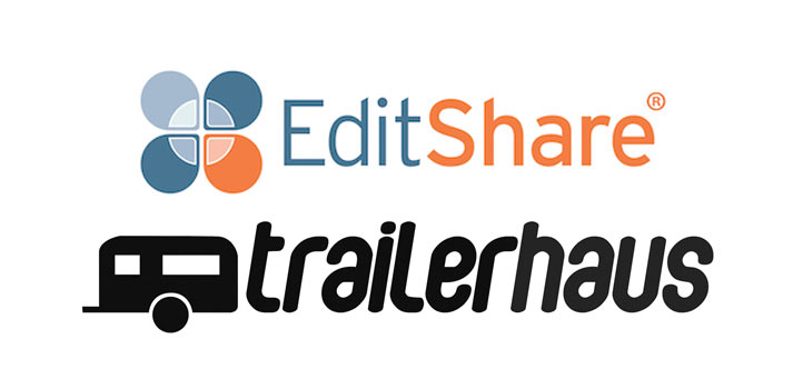 Logos of Trailerhaus and Editshare