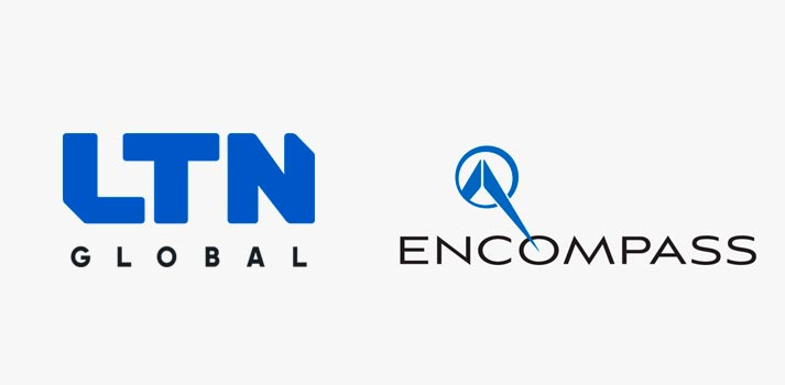 Logos of LTN Global and Encompass