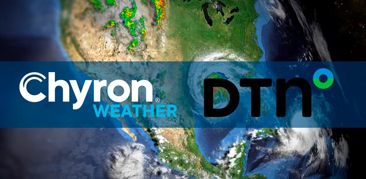 Logos of Chyron Weather and DTN