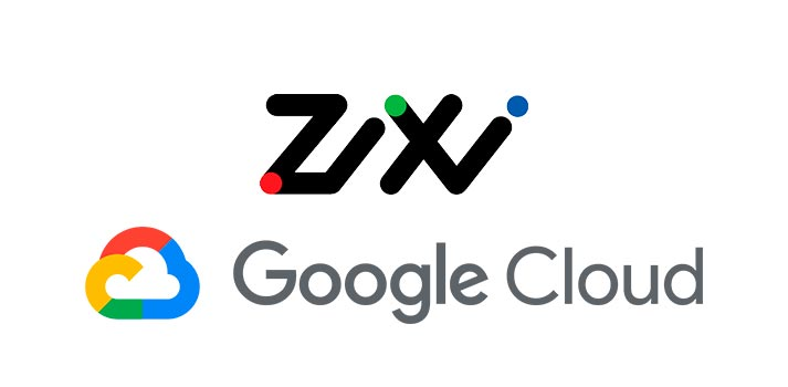 Logos of Zixi and Google Cloud