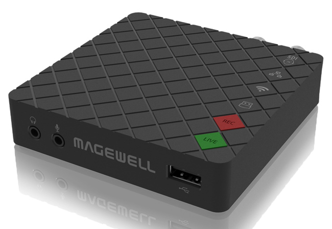 Front view of the Magewell Ultra Stream SDI device