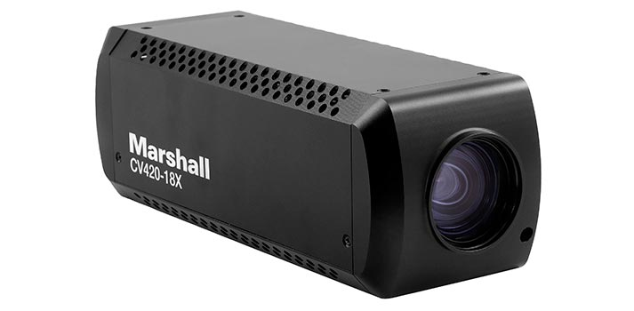 Block zoom camera CV420-18X by Marshall Electronics