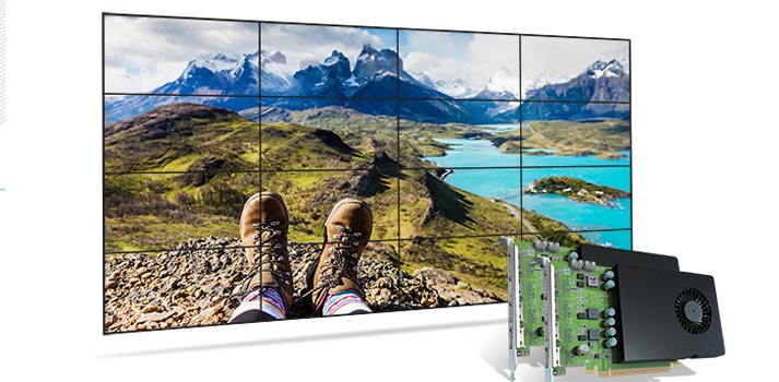 Videowall powered by Matrox D1480 graphic card