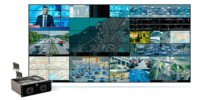 Videowall powered by Matrox solutions with HDCP Support