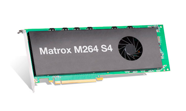 The M264 S4 is the latest codec card by Matrox