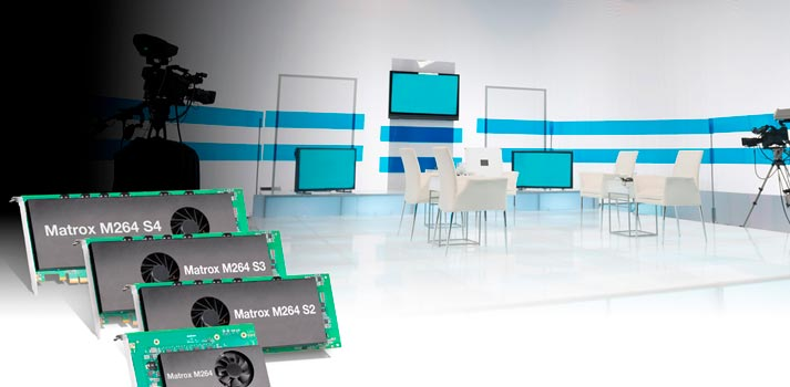 Matrox M264 codec cards in a tv studio environment