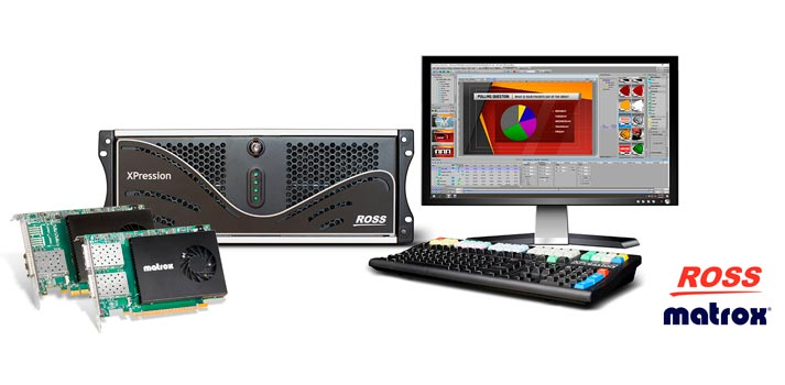Matrox cards implemented in Ross Video XPression solution