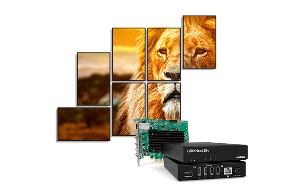 QuadHead2Go videowall controller systems from Matrox