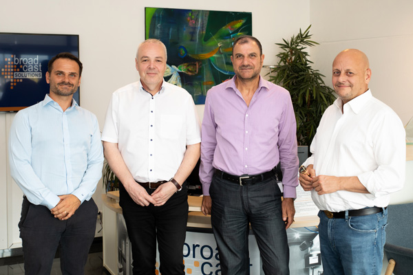 Picture with the members of the Middle-East division of Broadcast Solutions
