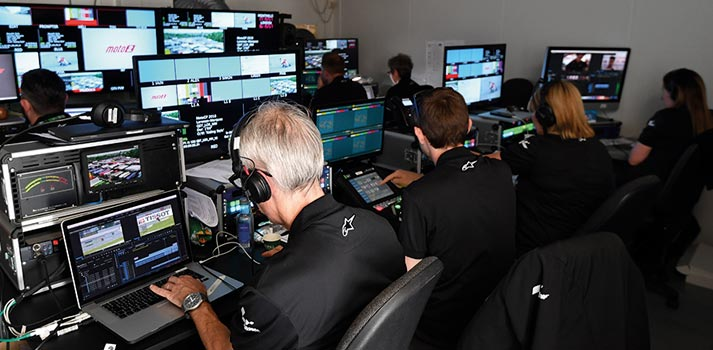 Control Room of a MotoGP Race by Dorna Sports