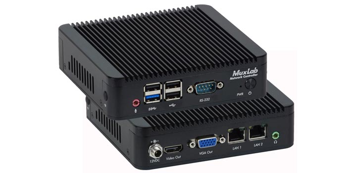Front and back view of the MuxLab's Network Controller