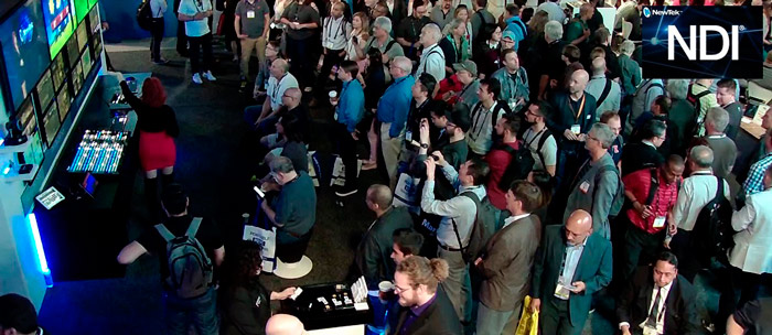 Crowd at NDI booth (NAB 2018)