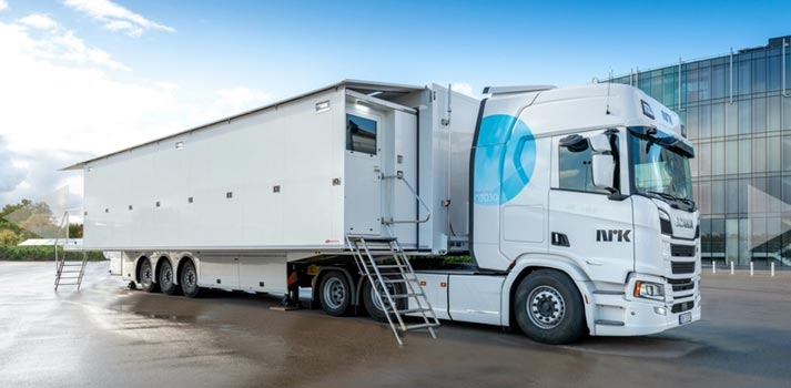 External view of the OB24, the latest NRK's OB Truck