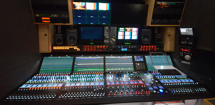 Audio console mc2 56 from Lawo implemented in the new NRK OB Trailer
