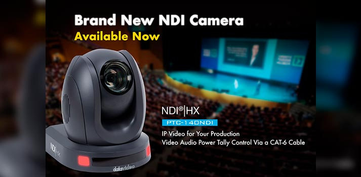 First Datavideo NDI Camera PTC-140