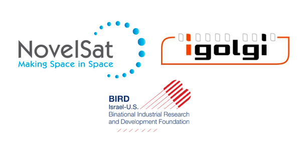 Logos of NovelSat, igolgi and BIRD foundation