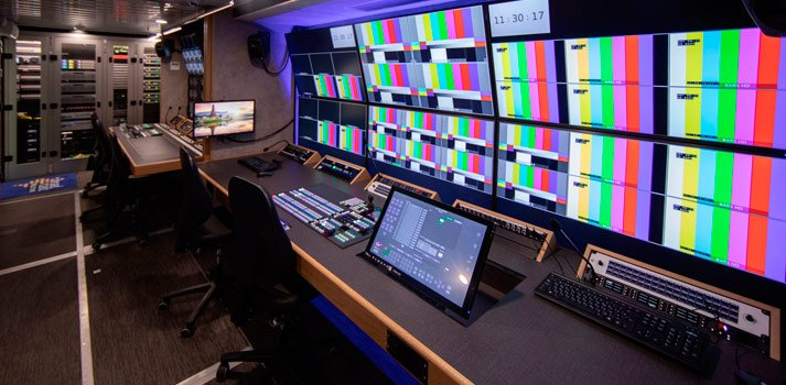 OB Trailer devliverd by Broadcast Solutions to ONT INSIDE Control Room