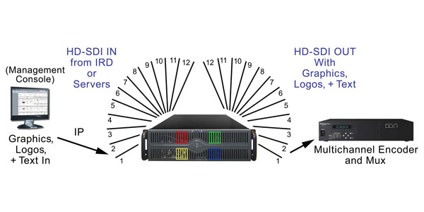 DVEO is now shipping its new PLAY SERVER™ 12ch HD-SDI