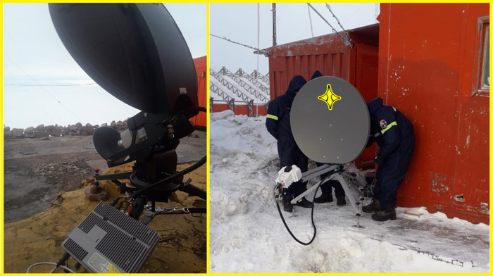Hornet99 and Connect100t devices of Paradigm deployed in Antarctica