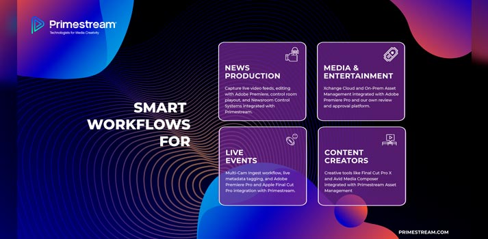 Workflows to be showcased by Primestream at IBC 2020 virtual showcase