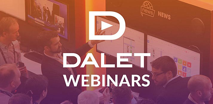 Corporative image of Dalet's Webinars