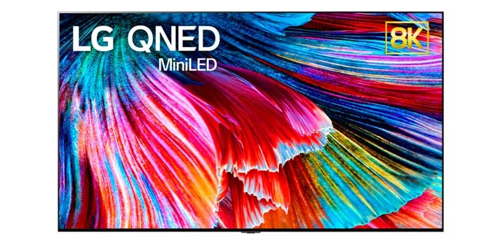 Promotional pic of QNED TV technology developed by LG