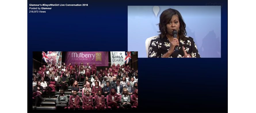 Quicklink TX brings Michelle Obama and Mulberry School for Girls together for International Day of the Girl