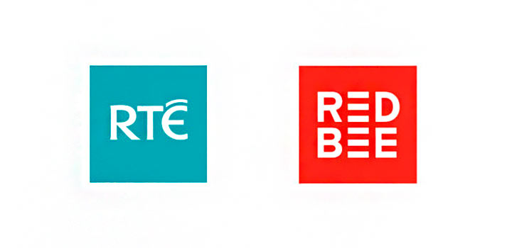 Logos of RTE and Red Bee Media