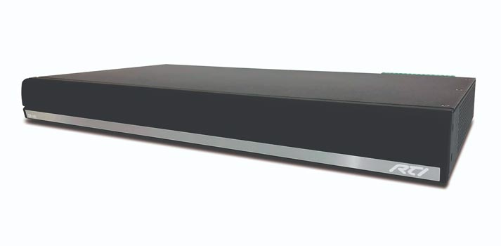 Front view of the CP 16i Cool Power audio amplifier created by RTI