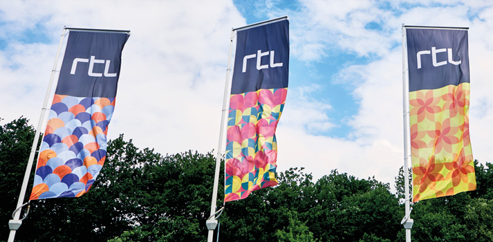 Banners of RTL Nederland in its HQ