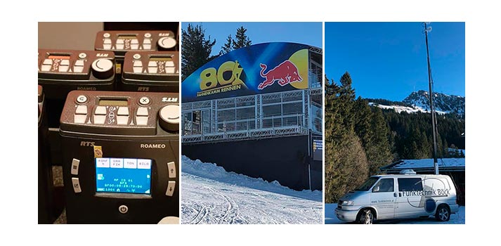 RTS ROAMEO deployed at Hahnenkamm alpine ski race