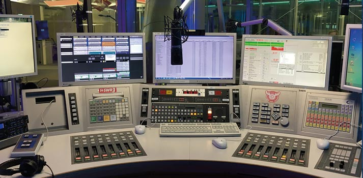Control equipment and playout at SWR3 radio studio