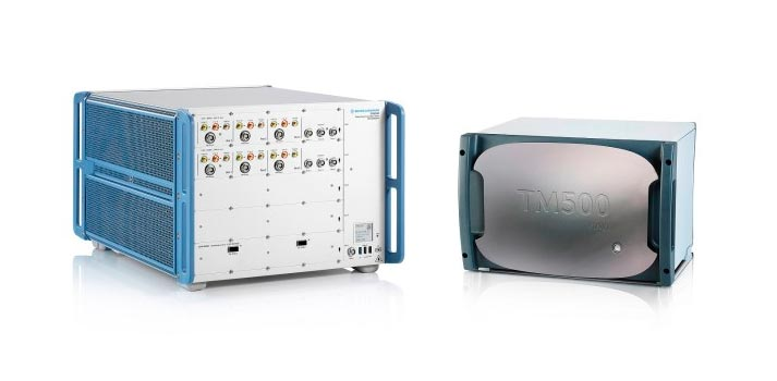 R&S CMX500 5G NR wideband radio communication tester by Rohde & Schwarz and the TM500 network tester