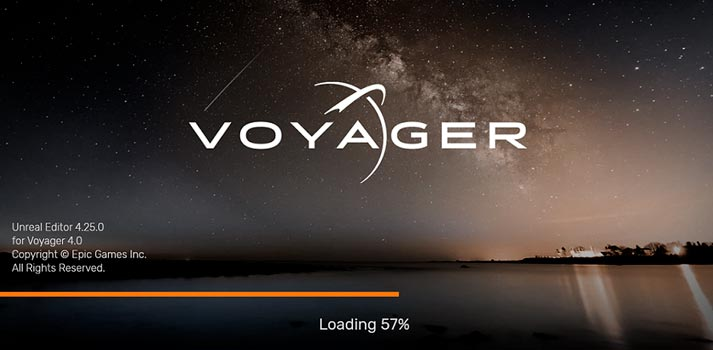 Ross Video Voyager loading screen