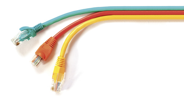 Stock image with three ethernet cables