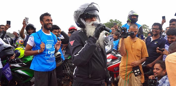 Sadhguru Isha Foundation streamed with LiveU equipment