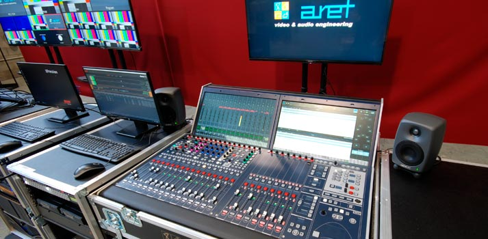 Lawo console setup for latest OB VAN by Aret