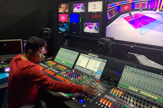 Control Room of the Star TV's Indian Premier League broadcast