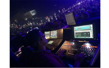 FOH Engineer Stephane Plisson uses the Waves eMotion LV1 software mixer for Kids United Tour