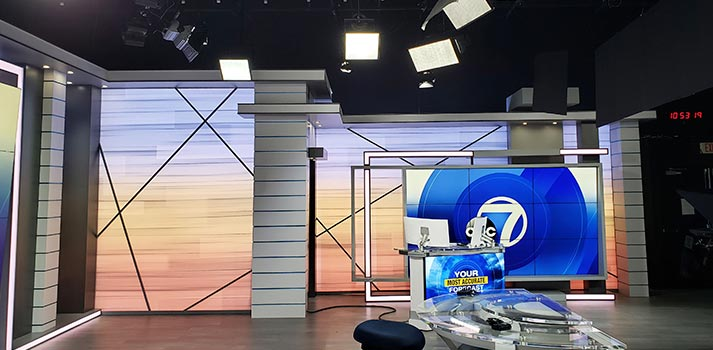 New WZVN studio with Brightline solutions