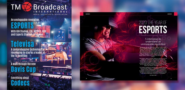 Front cover TM Broadcast International 77 with Esports special report