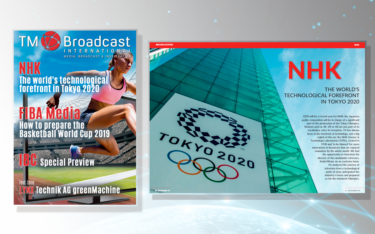 Front cover of TM Broadcast 73 with the NHK report