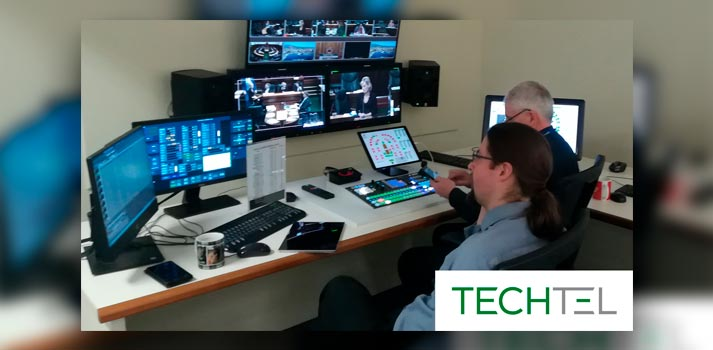 Control room of Tasmanian Parliament with Bluefish444 solutions integrated by TechTel